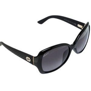 Gucci Black GG 3729 Butterfly Sunglasses